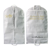 Foldable White NonWoven Business Suit Cover bag(50051)