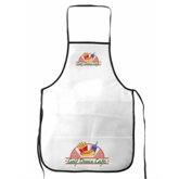 White NonWoven Kitchen Apron(74011)