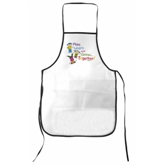 White NonWoven Kitchen Apron(74010)