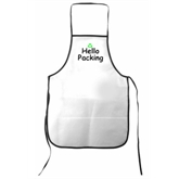 White NonWoven Kitchen Apron(74009)