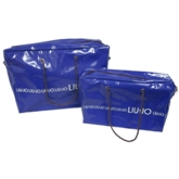 Blue PU Leather zipper bag(71007)