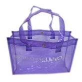 Semi-Transparent Purple PVC Tote Bag(71001)
