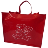 Red PVC bag with Tote Handle(71008)